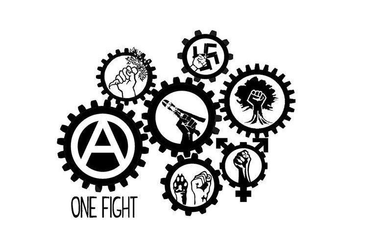 A per Antifascismo Anarchia Antispecismo